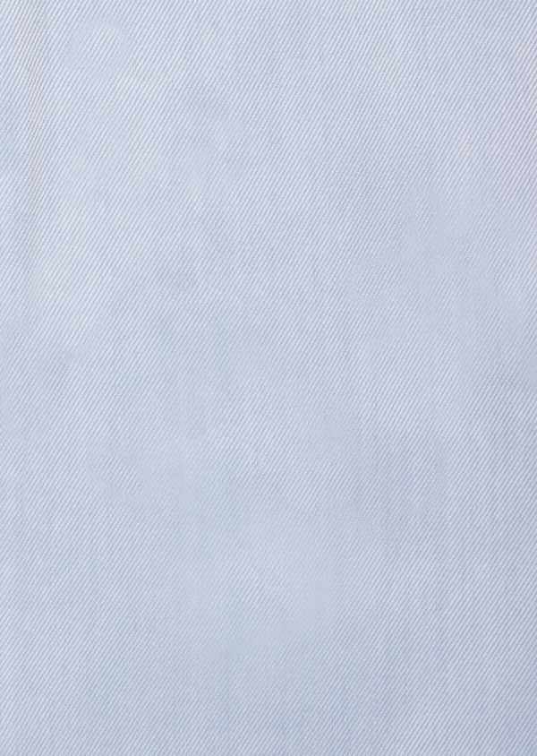 Chemise habillée Regular en twill de coton uni bleu chambray - Father and Sons 38384