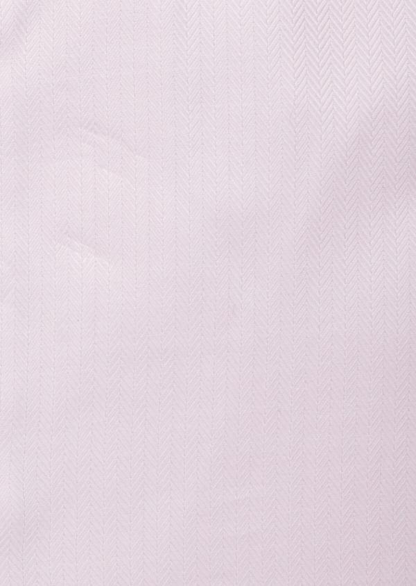 Chemise habillée Regular en chevron de coton uni rose pâle - Father and Sons 38340