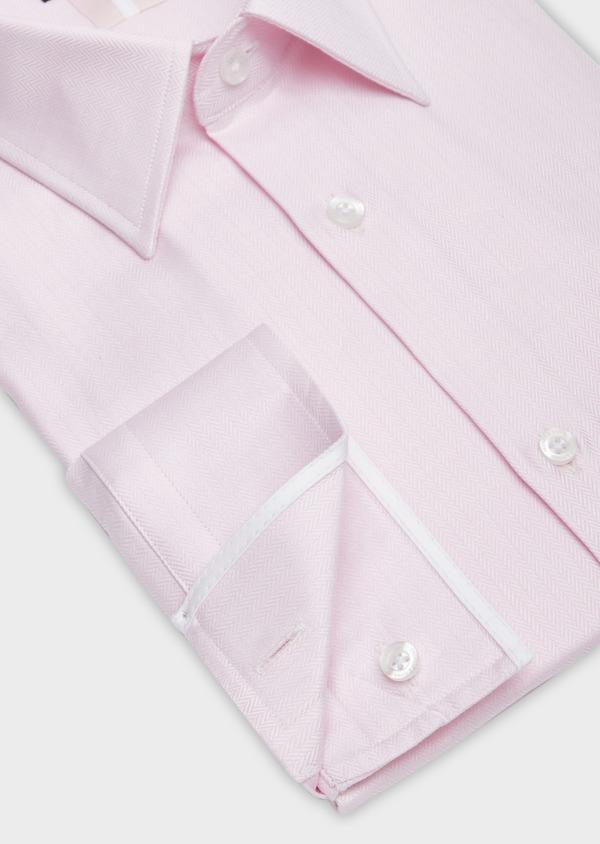 Chemise habillée Regular en chevron de coton uni rose pâle - Father and Sons 38342