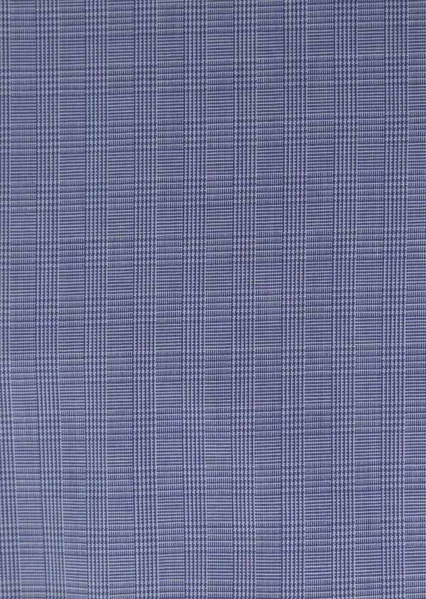 Chemise habillée Slim en popeline de coton à carreaux bleus et blancs - Father and Sons 34961