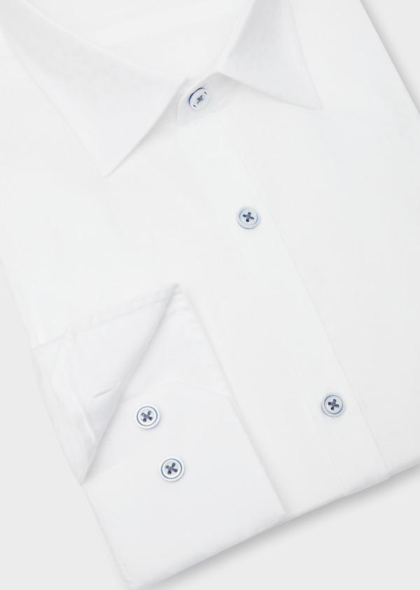 Chemise habillée Slim en coton façonné blanc à motif fantaisie - Father and Sons 38563