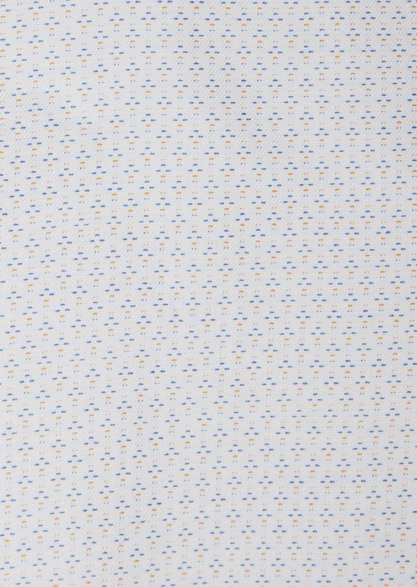 Chemise habillée Slim en twill de coton blanc à motif fantaisie - Father and Sons 38300