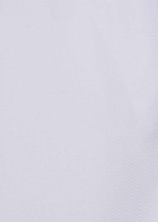 Chemise habillée Slim en coton façonné blanc à motif fantaisie - Father and Sons 35614