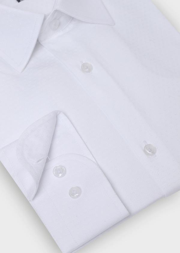 Chemise habillée Slim en coton façonné blanc à motif fantaisie - Father and Sons 35619