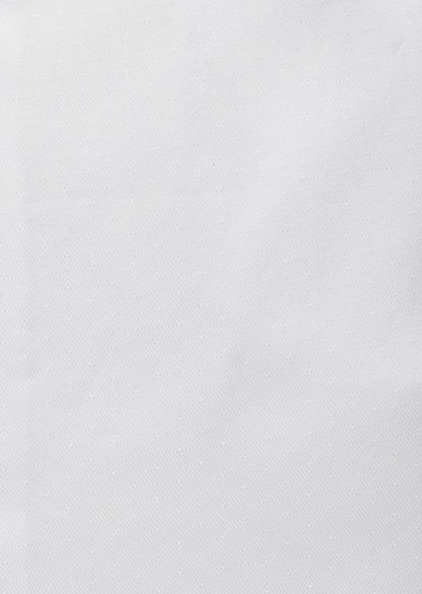 Chemise habillée Slim en coton façonné blanc à motif fantaisie - Father and Sons 38320