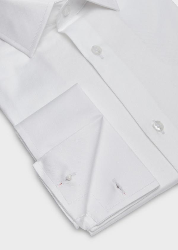 Chemise habillée Slim en coton façonné blanc à motif fantaisie - Father and Sons 38322