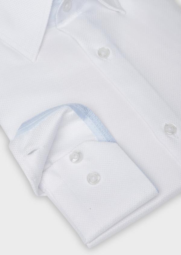 Chemise habillée Slim en coton façonné blanc - Father and Sons 38326