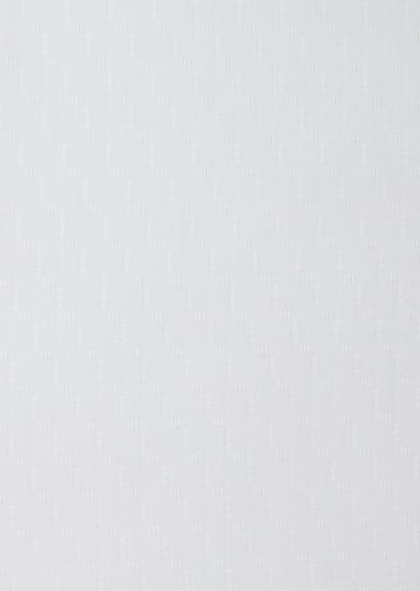 Chemise habillée Slim en coton façonné blanc à motif fantaisie ton sur ton - Father and Sons 38380