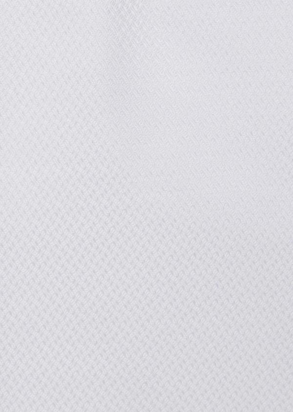 Chemise habillée Slim en coton façonné à motif fantaisie ton sur ton blanc - Father and Sons 38396