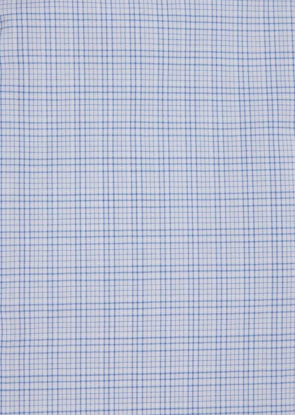 Chemise habillée Slim en popeline de coton azur à motif fantaisie - Father and Sons 39308