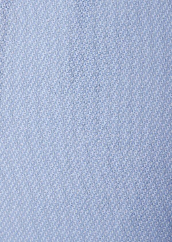 Chemise habillée Slim en coton façonné mélangé bleu chambray - Father and Sons 38581