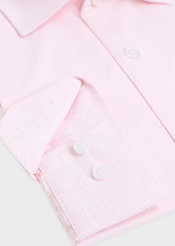 Chemise habillée Slim en coton façonné rose à motifs géométriques - Father and Sons 34879