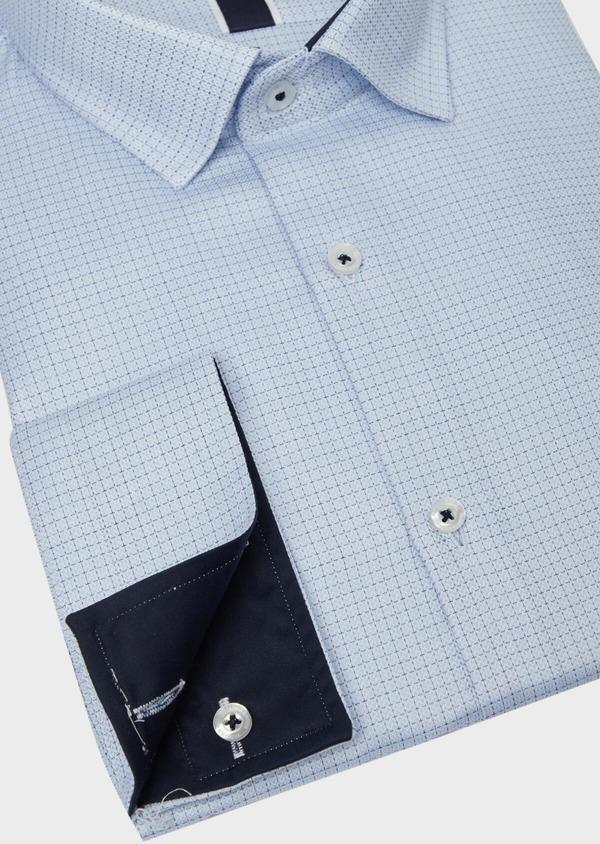 Chemise habillée Slim en coton bleu ciel à motif fantaisie - Father and Sons 37212