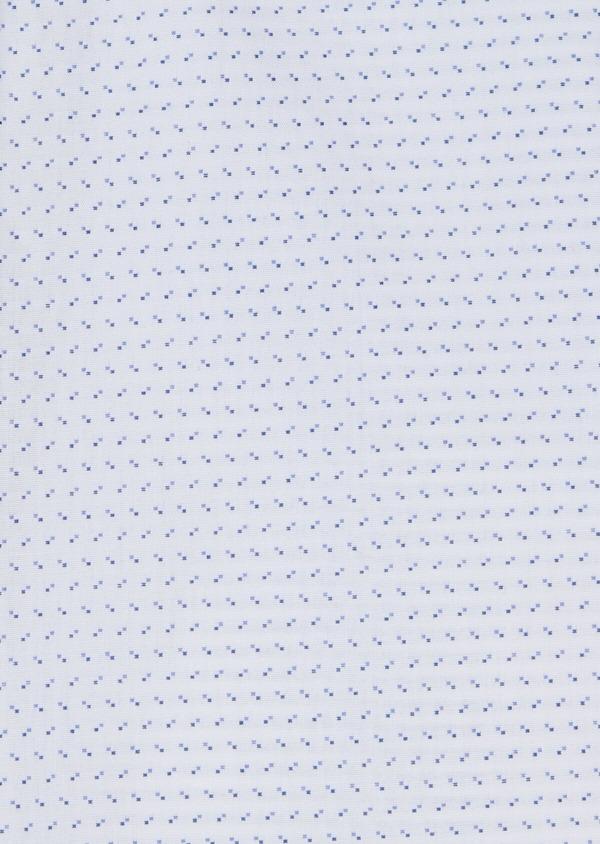 Chemise habillée Slim en popeline de coton à motif fantaisie bleu - Father and Sons 34965