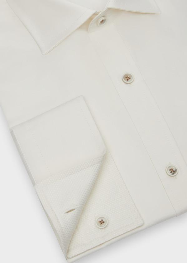 Chemise habillée Slim en coton façonné écru - Father and Sons 38310