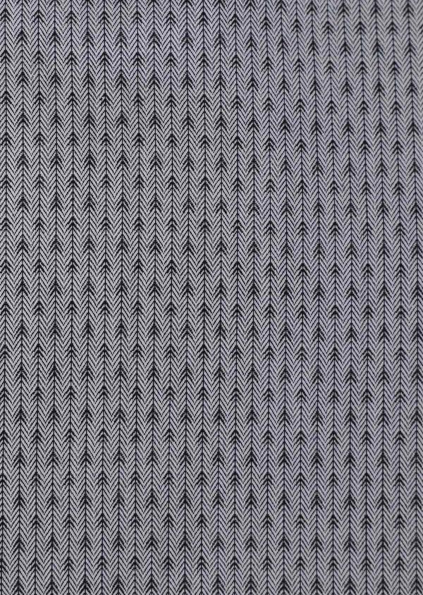 Chemise habillée Slim en coton façonné gris à motif fantaisie - Father and Sons 34909