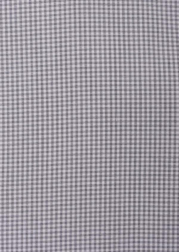 Chemise habillée Slim en popeline de coton gris clair à motif fantaisie - Father and Sons 35948