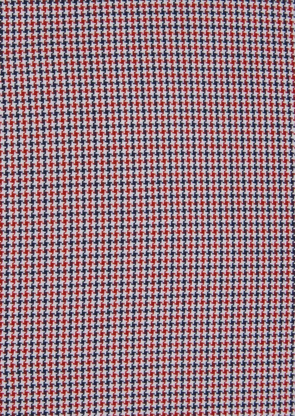 Chemise habillée Slim en popeline de coton rouge à motif fantaisie - Father and Sons 36287