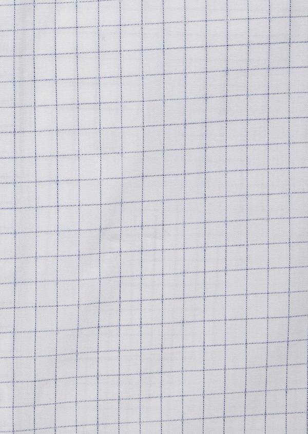 Chemise habillée Slim en popeline de coton blanc à carreaux - Father and Sons 38336