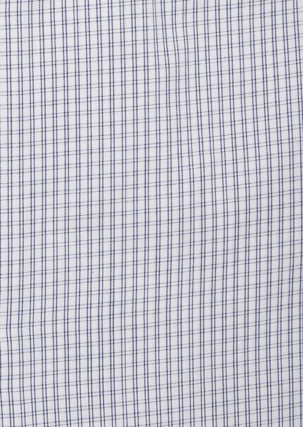 Chemise habillée Slim en popeline de coton blanc à carreaux - Father and Sons 38368