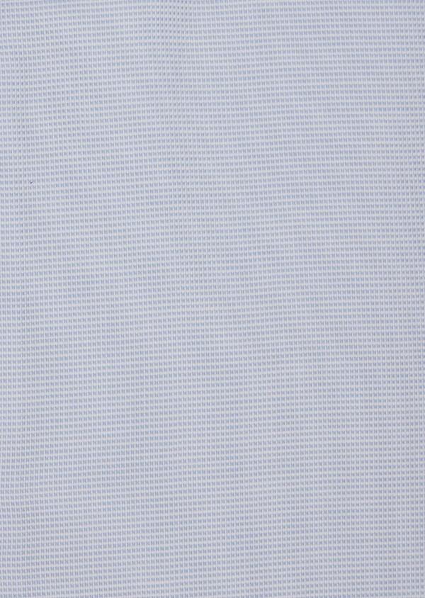 Chemise habillée Slim en coton façonné bleu ciel à motifs  géométriques - Father and Sons 36670