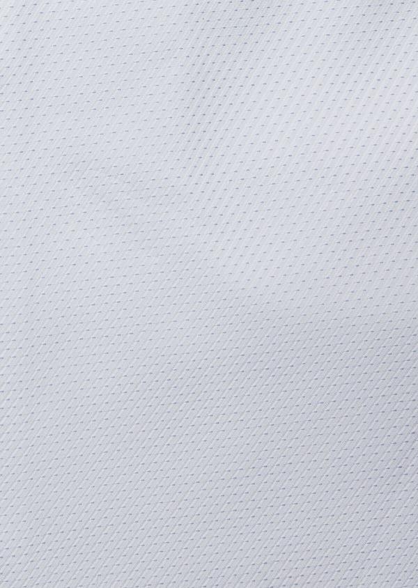Chemise habillée Slim en façonné de coton blanc à pois bleu ciel - Father and Sons 38991