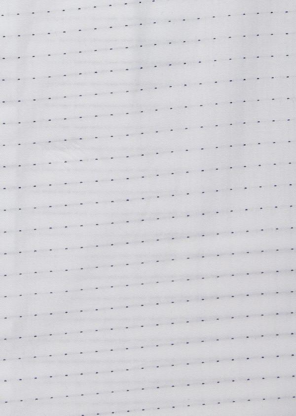 Chemise habillée Slim en coton façonné blanc à pois bleus - Father and Sons 38360