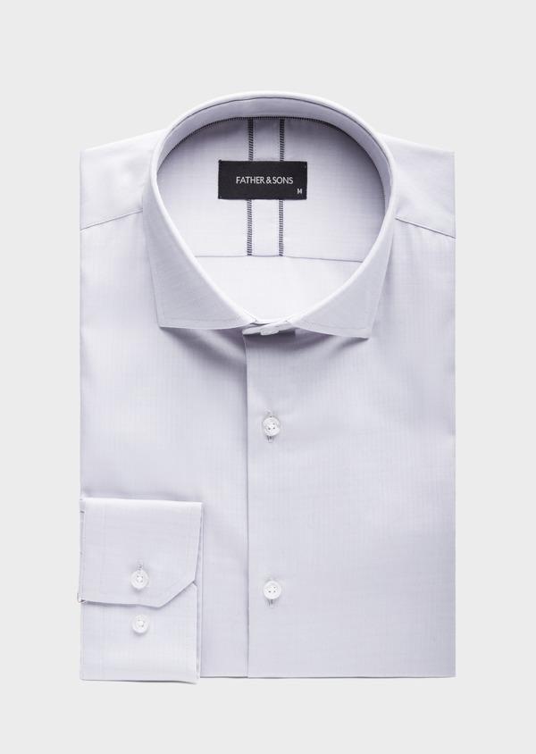 Chemise habillée Slim en coton chevron gris - Father and Sons 39443