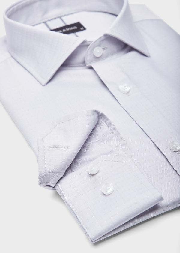 Chemise habillée Slim en coton chevron gris - Father and Sons 39445