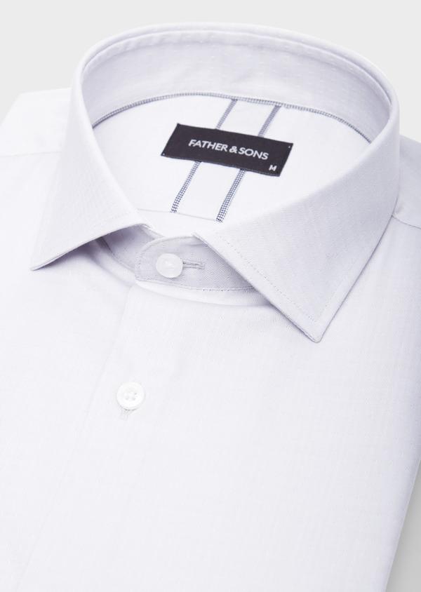 Chemise habillée Slim en coton chevron gris - Father and Sons 39447