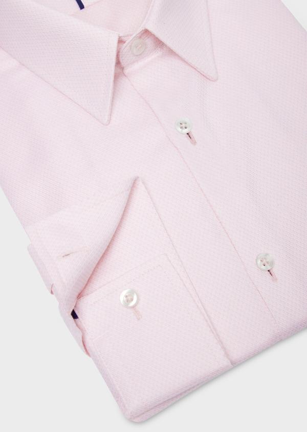 Chemise habillée Regular en coton Jacquard rose à pois - Father and Sons 36691
