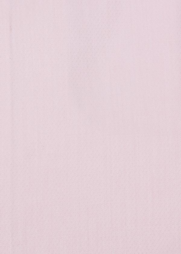 Chemise habillée Slim en twill de coton rose pâle à pois ton sur ton - Father and Sons 34977