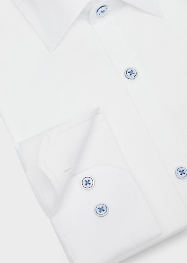 Chemise habillée Slim en coton façonné à rayures diagonales ton sur ton - Father and Sons 38567