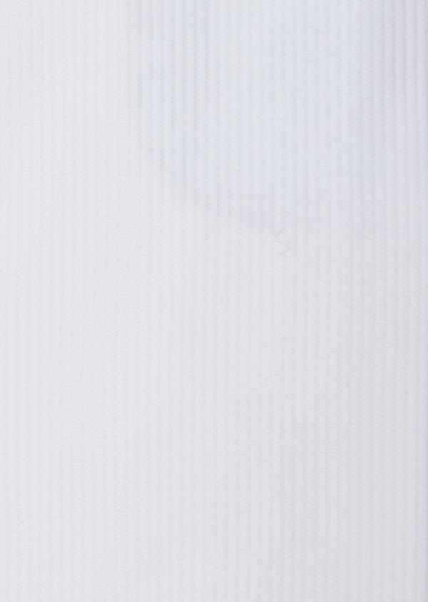 Chemise habillée Slim en coton façonné blanc à fines rayures ton sur ton - Father and Sons 38577