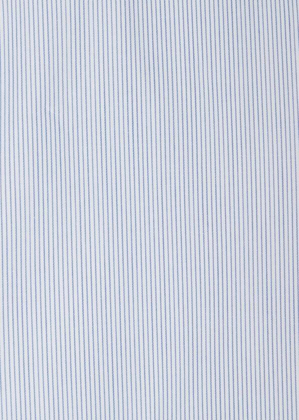 Chemise habillée Slim en popeline de coton à rayures bleues - Father and Sons 38304