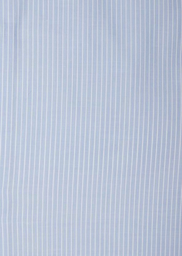 Chemise habillée Slim en popeline de coton à rayures bleues - Father and Sons 38392