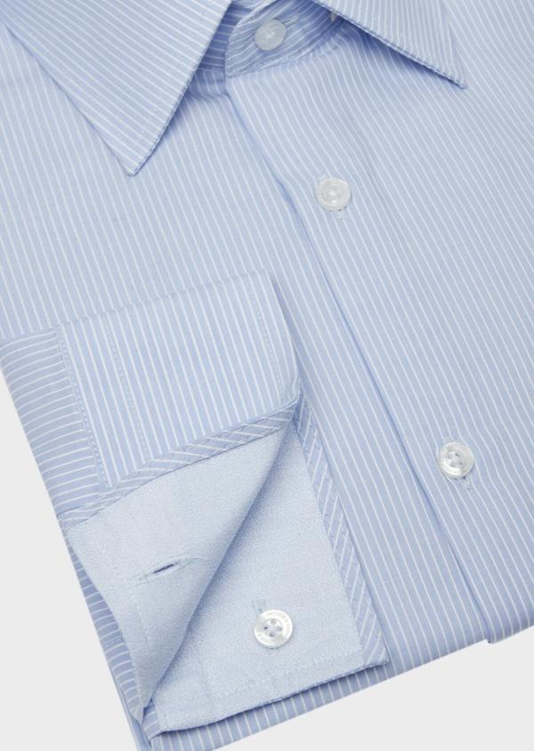 Chemise habillée Slim en popeline de coton à rayures bleues - Father and Sons 38394