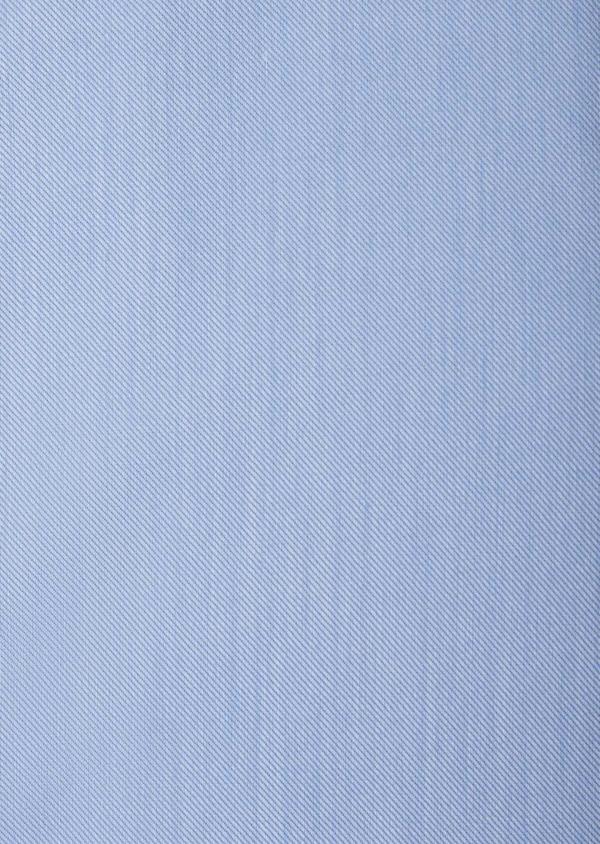 Chemise habillée Slim en coton façonné uni bleu azur - Father and Sons 38593