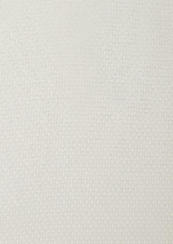 Chemise habillée Slim en coton façonné écru à motifs ton sur ton - Father and Sons 38312