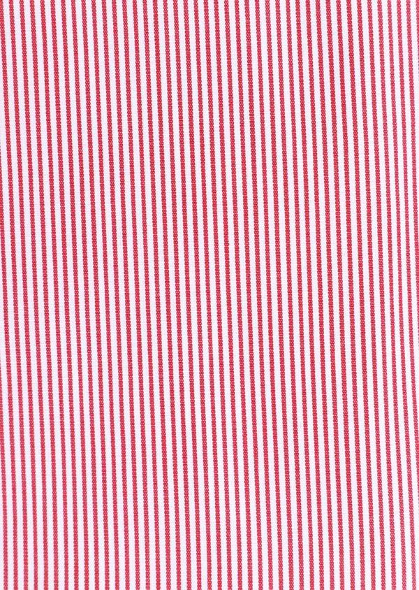 Chemise habillée Slim en popeline de coton à rayures rouges et blanches - Father and Sons 34889