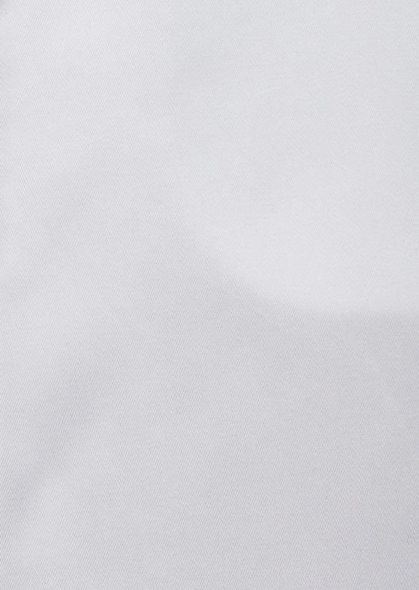 Chemise habillée Slim en popeline de coton blanc à col cassé - Father and Sons 37261
