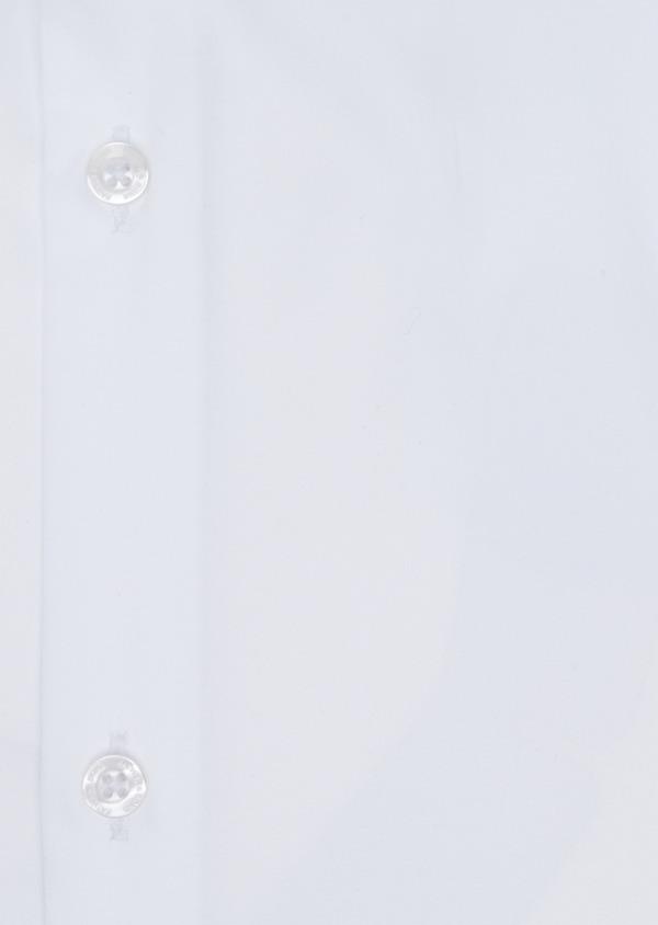 Chemise habillée Slim en satin de coton uni blanc - Father and Sons 34953