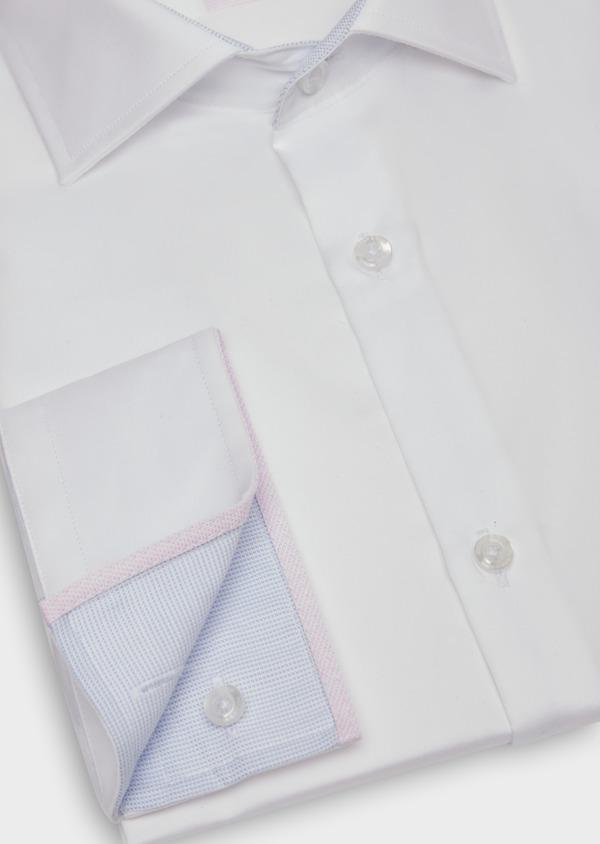 Chemise habillée Slim en satin de coton uni blanc - Father and Sons 38346