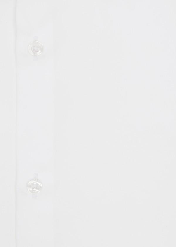 Chemise habillée Slim en satin de coton uni blanc - Father and Sons 38412