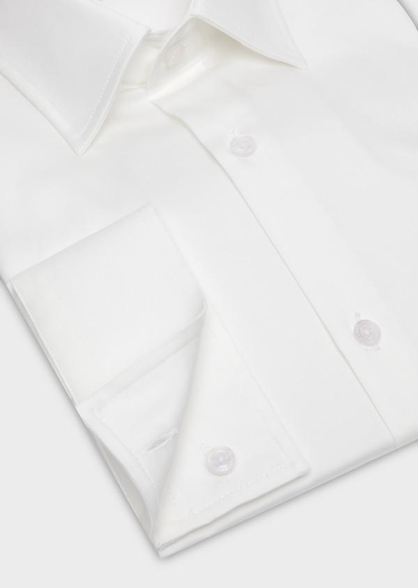 Chemise habillée Slim en satin de coton uni écru - Father and Sons 34975