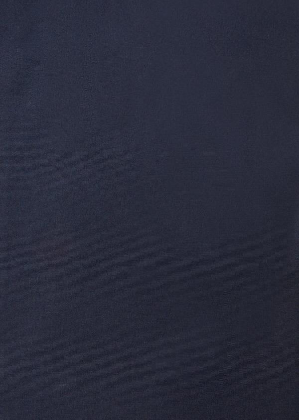 Chemise habillée Slim en satin de coton uni bleu marine - Father and Sons 38376
