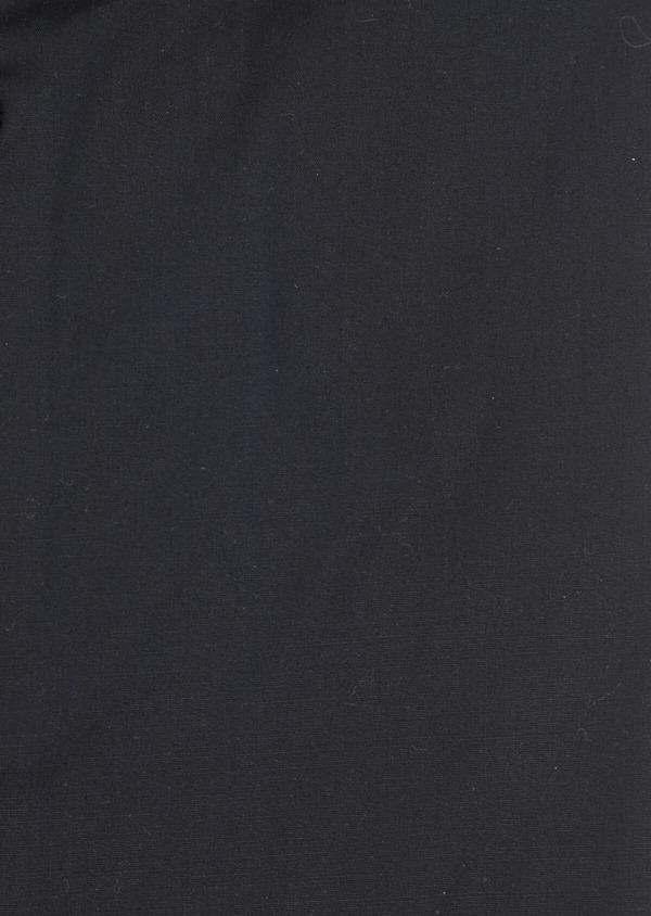 Chemise habillée Slim en satin de coton uni noir - Father and Sons 34985