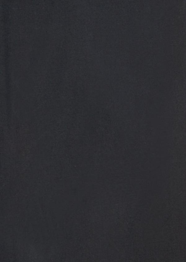 Chemise habillée Slim en satin de coton uni noir - Father and Sons 38408