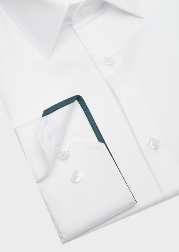 Chemise habillée Regular en satin de coton uni blanc - Father and Sons 40830