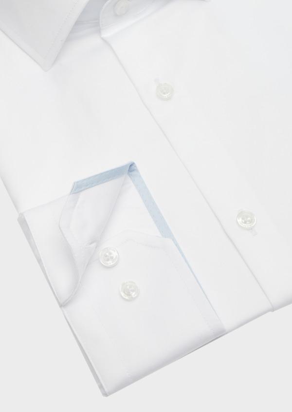 Chemise habillée Slim en satin de coton uni blanc - Father and Sons 41732
